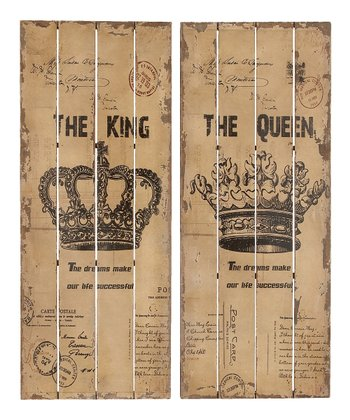 King & Queen Wall Art Set