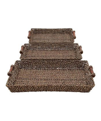 Seagrass Tray Set