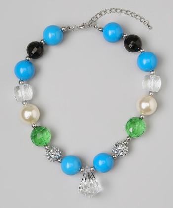 Green & Blue Chunky Gem Necklace