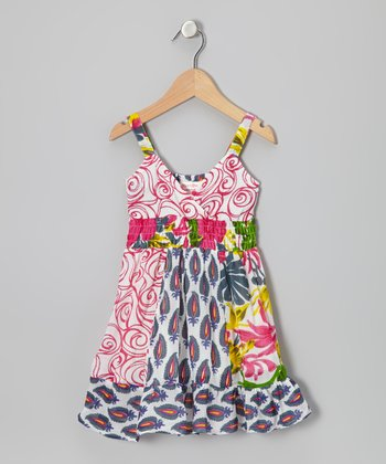 Pink & White Patchwork Dress - Toddler & Girls