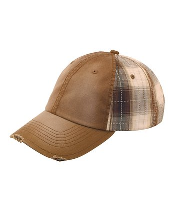 Brown Plaid Baseball Cap