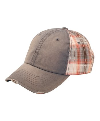 Gray Plaid Baseball Cap