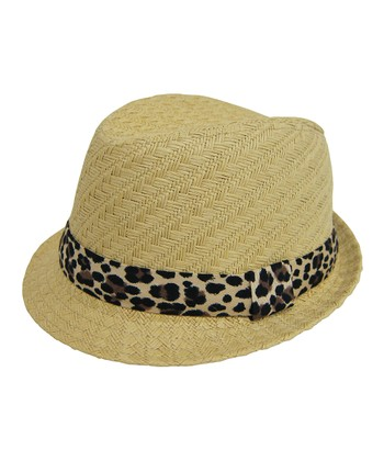 Sand & Coffee Cheetah Fedora