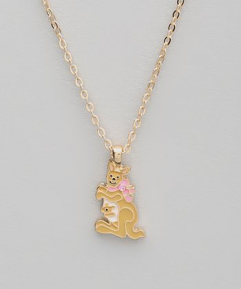 Tan Kangaroo Pendant Necklace