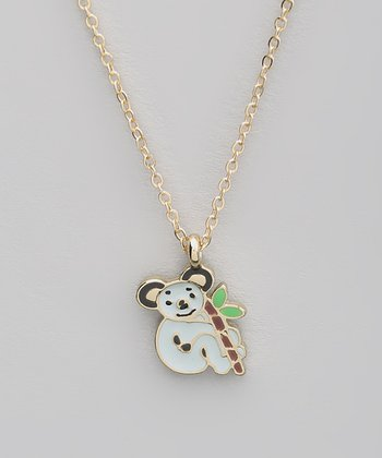 White Koala Pendant Necklace