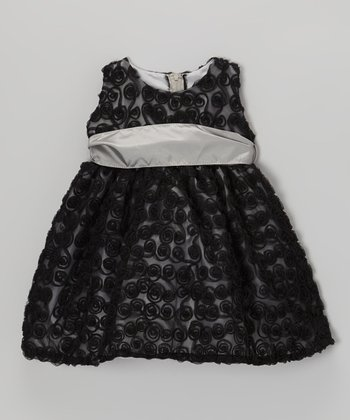 Black Rose Swirl Dress - Infant, Toddler & Girls