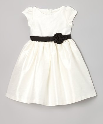 Ivory Olivia Dupioni Dress - Toddler & Girls