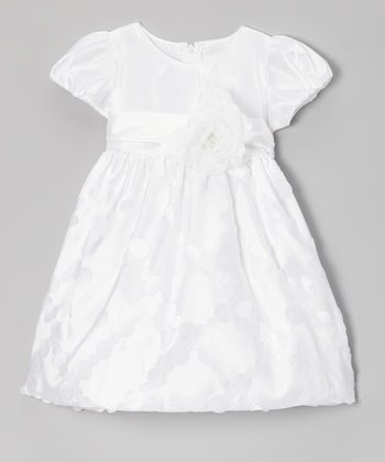 White Diamond Taffeta Dress - Toddler & Girls