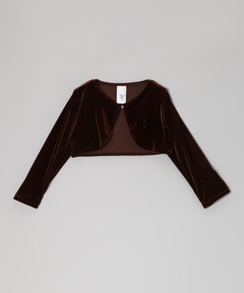 Brown Velvet Bolero - Toddler & Girls