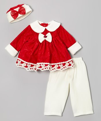 Red Bow Dress Set - Infant