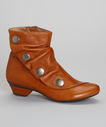 Tan Leather Soho Ankle Boot