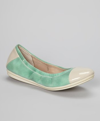 Light Green & Ivory Gessica Flat