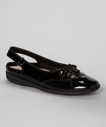 Black Patent Leather Mirelly Slingback Flat