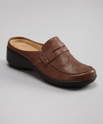 Dark Brown Leather Dader Slide