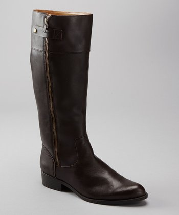 Dark Brown Leather Dembra Boot