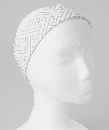Gone for a Run White Maze Original RokBAND Running Headband