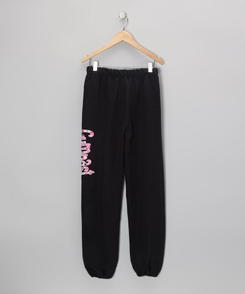 Black & Pink 'Gymnast' Bubbles Sweatpants - Girls & Women