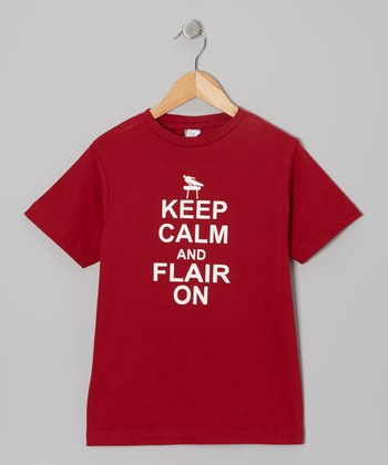 Maroon 'Keep Calm and Flair On' Tee - Toddler, Boys & Adult