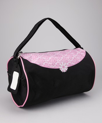 Black & Pink Leopard Duffel Bag