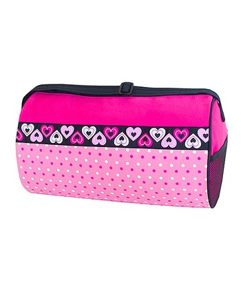 Fuchsia Hearts Duffel Bag