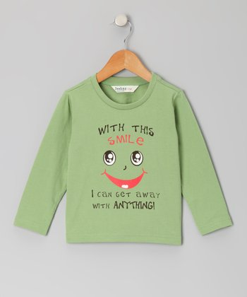 Green Smile Long-Sleeve Tee - Infant