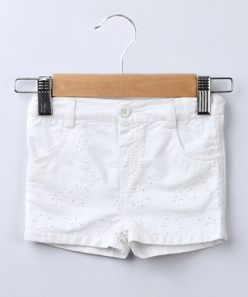 White Eyelet Shorts - Infant, Toddler & Girls