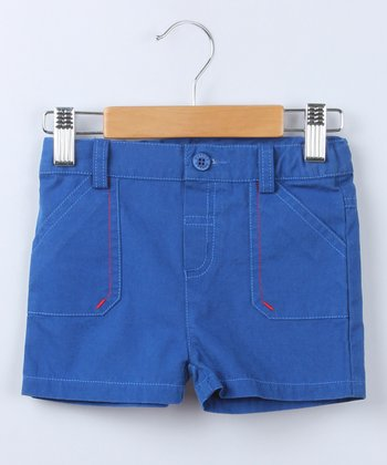 Blue Pocket Shorts - Infant & Toddler
