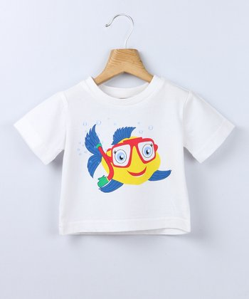White Goggle Fish Tee - Infant & Toddler