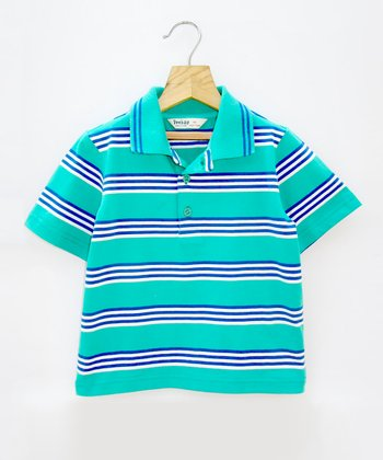 Green Stripe Polo - Infant