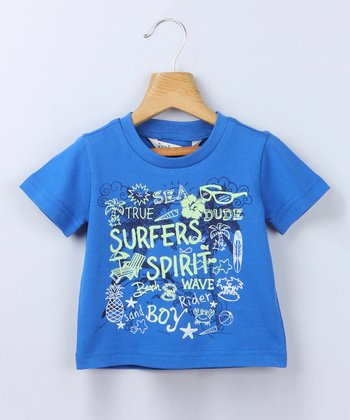 Blue 'Surfer's Spirit' Tee - Infant & Toddler
