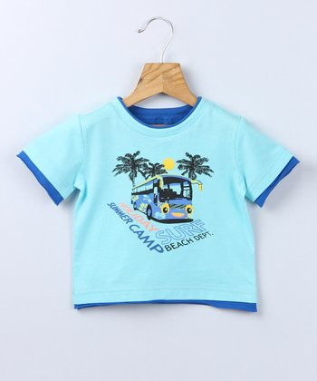 Blue Holiday Tee - Infant & Toddler