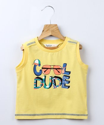 Yellow 'Cool Dude' Tank - Infant, Toddler & Boys