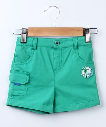 Green Cargo Shorts - Infant & Toddler