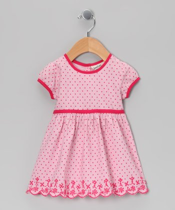Pink Polka Dot Dress - Infant & Toddler