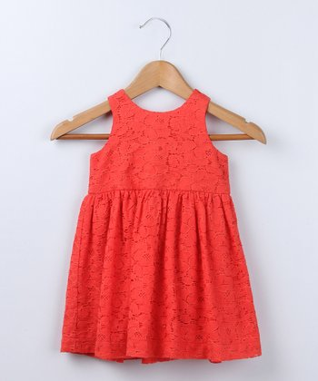 Red Lace Dress - Infant & Toddler