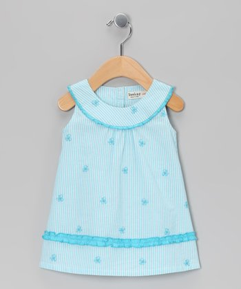 Blue Butterfly Yoke Dress - Infant & Toddler