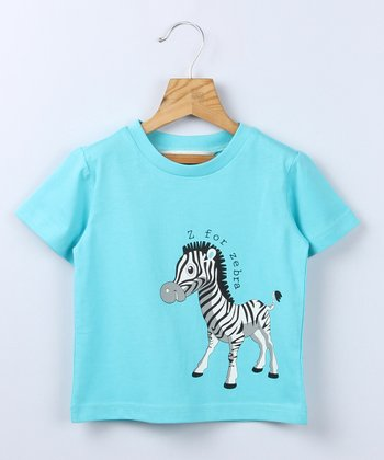 Turquoise Zebra Tee - Infant & Toddler