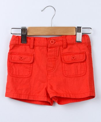 Red Pocket Shorts - Infant & Toddler