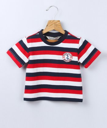 Red Stripe Tee - Infant & Toddler