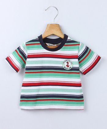 Green Stripe Tee - Infant & Toddler
