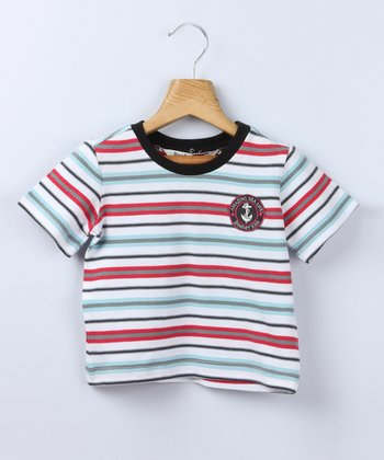 Aqua Stripe Tee - Infant & Toddler