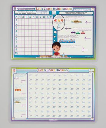 Multiplication & Division Activity Place Mat Set