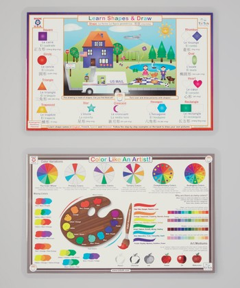 Colors & Shapes Activity Place Mat Set