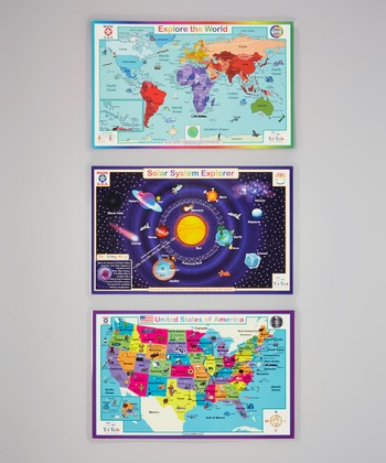 Geography & Solar System Activity Place Mat Set