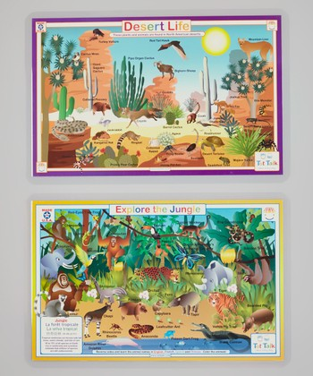 Jungle & Desert Activity Place Mat Set