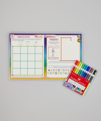 Game Place Mat & Washable Marker Set