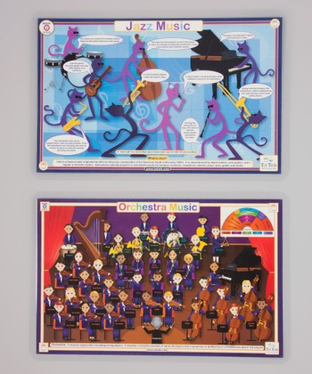 Orchestra & Jazz Music Activity Place Mat Set