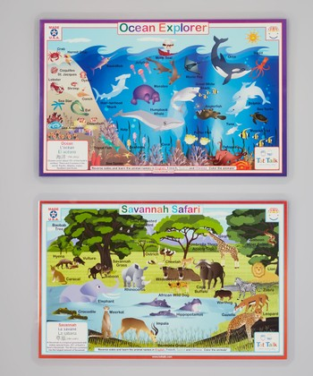 Ocean Explorer & Savanna Safari Activity Place Mat Set