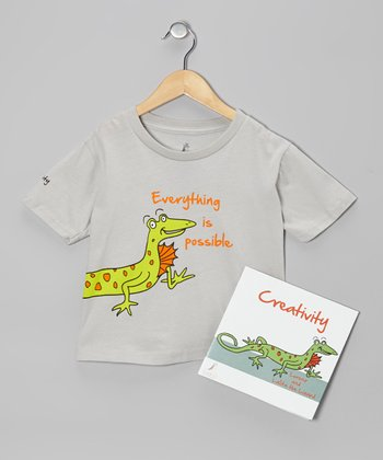 Gray Lizard 'Creativity' Tee & Paperback - Kids