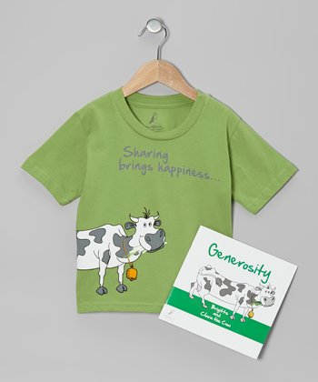 Green Cow 'Generosity' Tee & Paperback - Kids